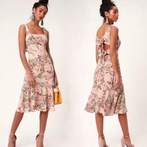 Lulus Island Sun Blush Pink Tropical Print Dress